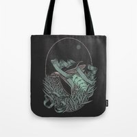 firefly Tote Bags featuring Firefly  by BEADLER Design and Illustration