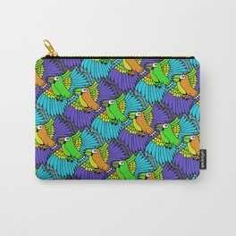 Tessellated Parrots Carry-All Pouch