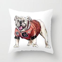 UGA Print Throw Pillow