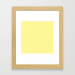 Simply Pastel Yellow Framed Art Print