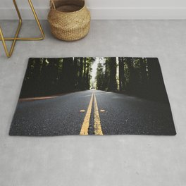 Into The Woods I Go - Nature Photography Rug