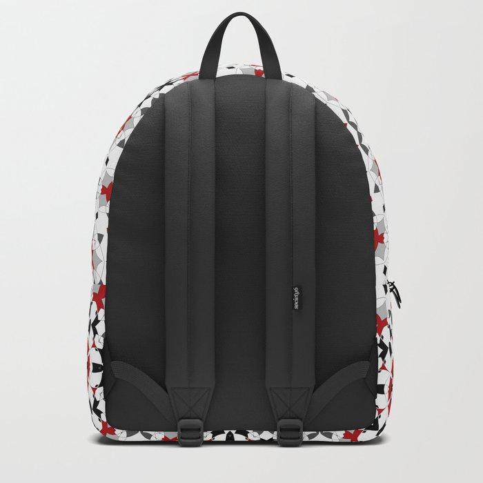 Ornament red , black , white Backpack