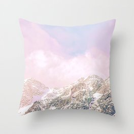 Closer to the moon - Pastel landscape Throw Pillow