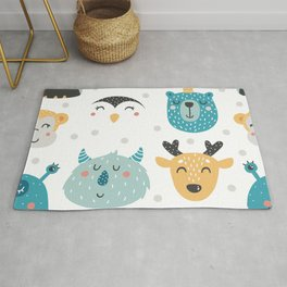 Baby Animals - Fantasy and Woodland Creatures Pattern Rug