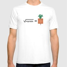 Square Root (of) Vegetable Mens Fitted Tee MEDIUM White
