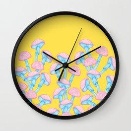 The Garden of Wonderland Mushroom Wall Clock
