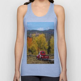 Old Chevy In The Fall Unisex Tank Top