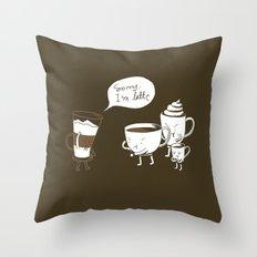 Sorry, I'm latte. Throw Pillow