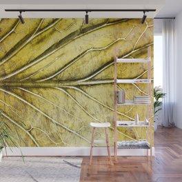 Golden Leaf #gold #golden #leaf Wall Mural