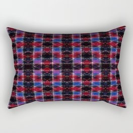 Cart Handle Semi-Plaid In Red, Pink, Blue, and Black Rectangular Pillow