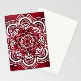 Mandala Red Colorburst #authentic Stationery Cards