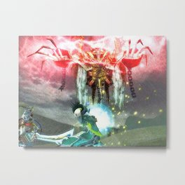 Battle magic mummy Metal Print