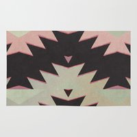 navajo Area & Throw Rugs featuring navajo triangles by spinL
