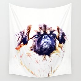 Lion Dog (white background) Wall Tapestry
