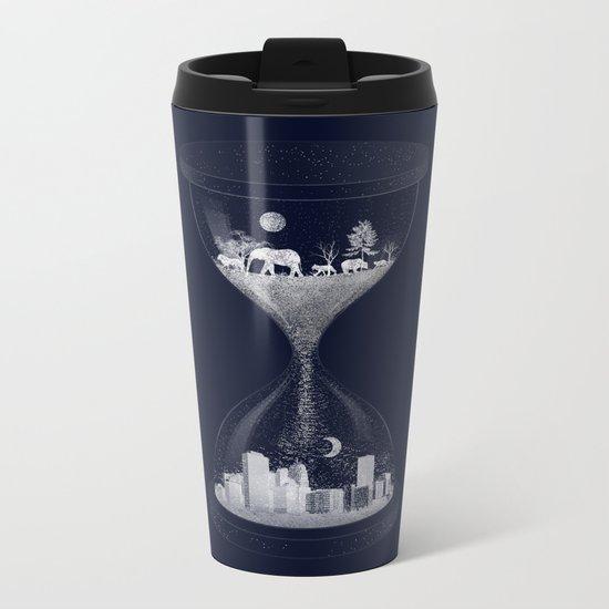 Sand Timer Metal Travel Mug