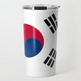 South Korean flag - officially the Republic of Korea, Authentic version - color and scale Travel Mug