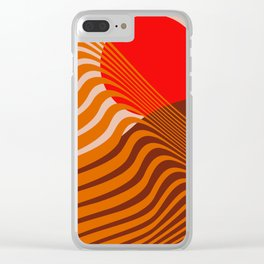 Beyond The Fog - Red & Brown Clear iPhone Case