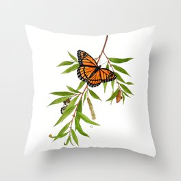 Viceroy and Willow Throw Pillow