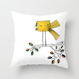 Nosy Bird Throw Pillow