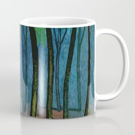 Sunset light in the forest Coffee Mug
