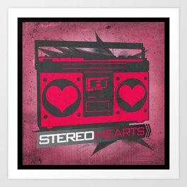 Stereo Hearts Art Print