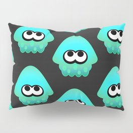 Splatoon Squid Pattern Cyan Pillow Sham