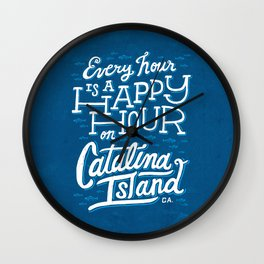 Every Hour is a Happy Hour Blue Wall Clock