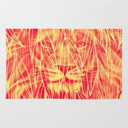 Vintage Bamboo Lion Print Rug