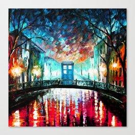 Tardis With Beautiful Starry Night Canvas Print