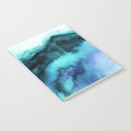 Abstract teal purple watercolor Notebook