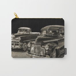 Two Vintage Chevy Automobiles Carry-All Pouch