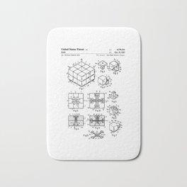 Rubiks Cube Patent Bath Mat
