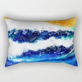 Rough Sea Rectangular Pillow