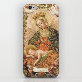 The Virgin Adoring the Christ Child with Two Saints iPhone Skin