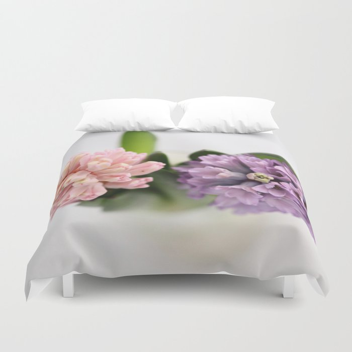 The Sweet Scent of Hyacinths - JUSTART © Duvet Cover
