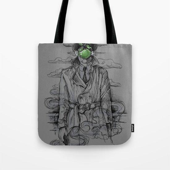 Magritte Noir Tote Bag