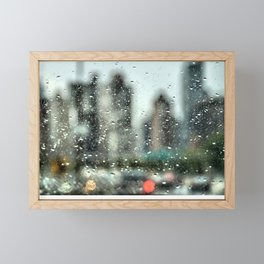 Rain Along FDR Drive, New York City Framed Mini Art Print