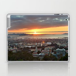 View of San Francisco Bay Area at Sunset from UC Berkeley Laptop & iPad Skin