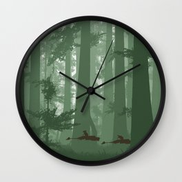 The Battle of Endor - The Tortoise & the Hare Wall Clock