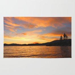 Orange sunset off the Lake Rug
