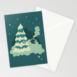 Cozy Snow Stationery Cards