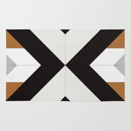 Geometric Art with Bands 12 Rug