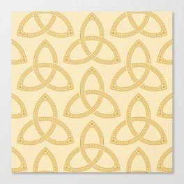 Little Golden Trinity Knot II Canvas Print