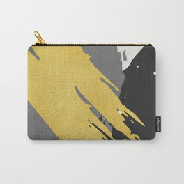 Black and Gold Brush Strokes AP178-12 Carry-All Pouch
