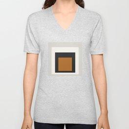 Block Colors - Black White Grey Ochre Unisex V-Neck