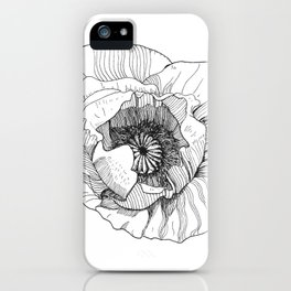 Poppy flower iPhone Case