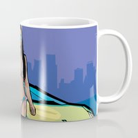 gta Mugs featuring GTA collection Bikini Girl Florida Beach by Akyanyme