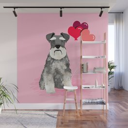 Schnauzer love balloons valentines day schnauzers must have pure breed gifts Wall Mural