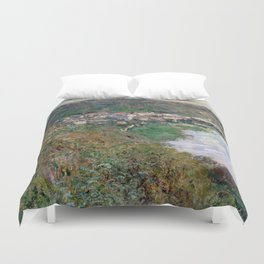 1880-Claude Monet-View of Vétheuil-65 x 81 Duvet Cover