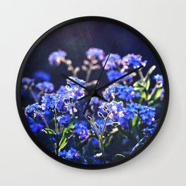 forget-me-not-flower Wall Clock